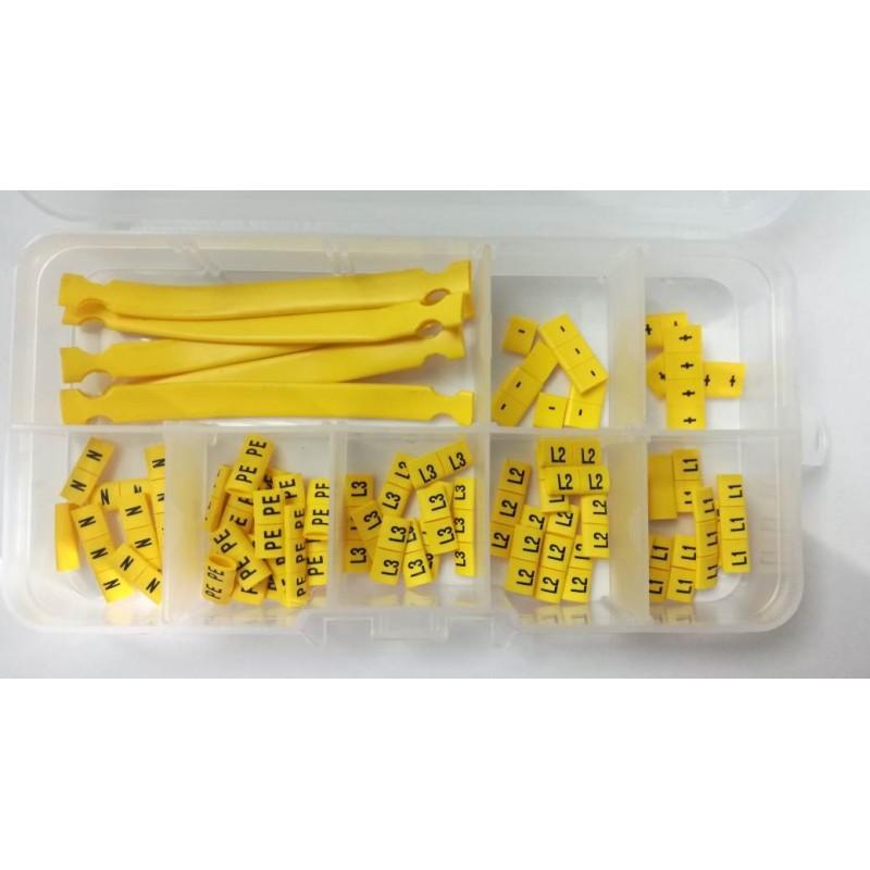Komplet oznaczników kablowych, oznaczenia elektryczne przek. 2,5mm2