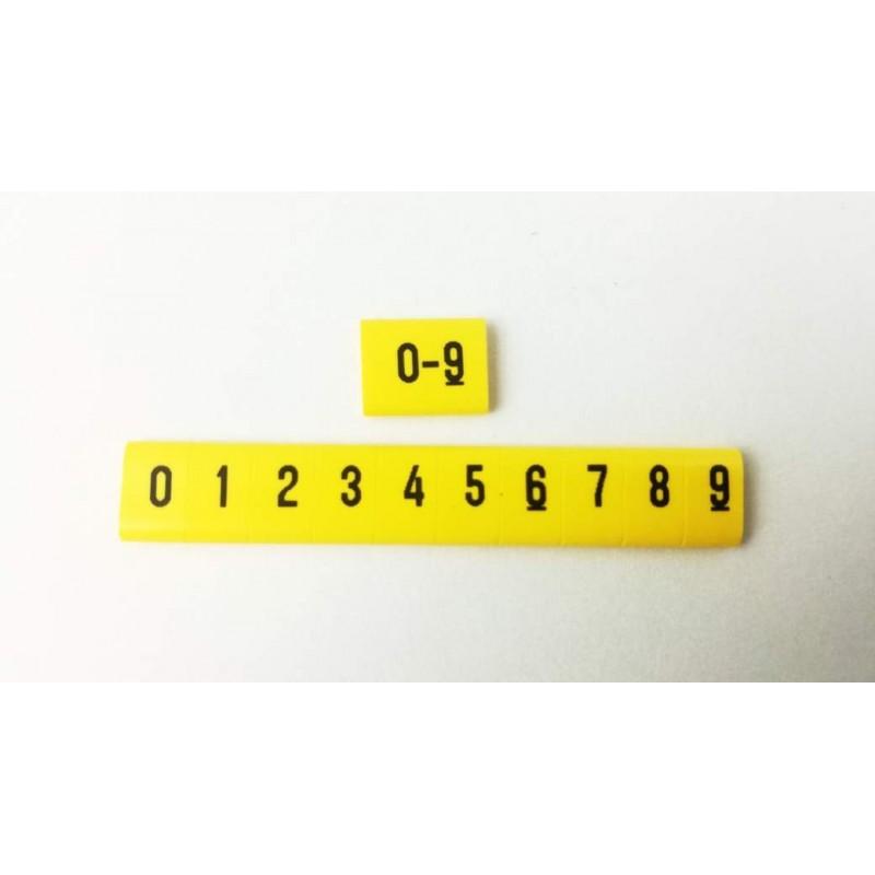 Oznacznik kablowy nasuwany cyfry 0 -9, przek. 0,75mm2