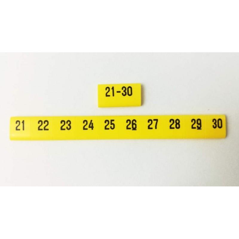 Oznacznik kablowy nasuwany cyfry 21 -30, przek. 1,5mm2