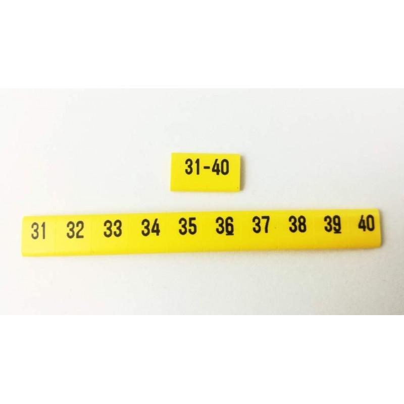 Oznacznik kablowy nasuwany cyfry 31 -40, przek. 0,75mm2