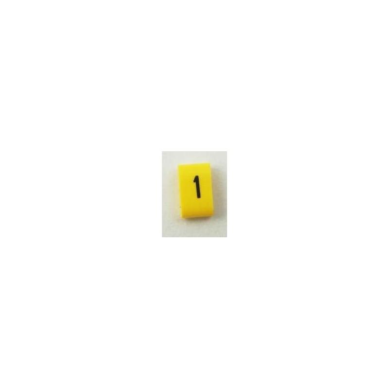 Oznacznik kablowy nasuwany cyfra 1 , przek. 0,75mm2