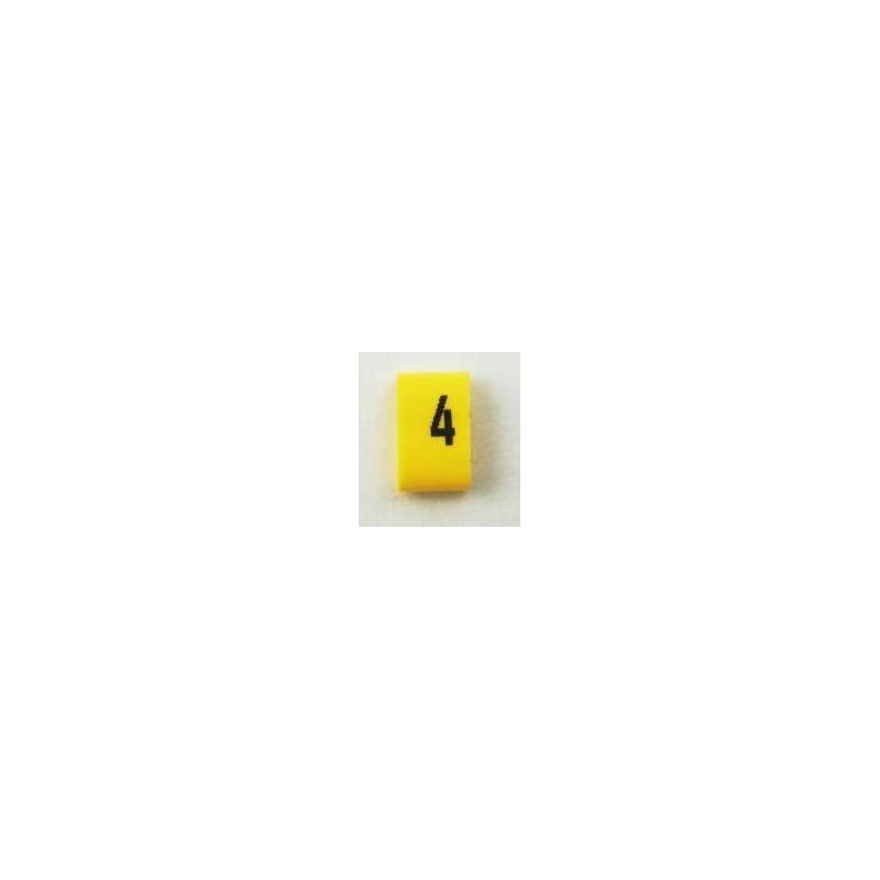 Oznacznik kablowy nasuwany cyfra 4, przek. 1,5mm2