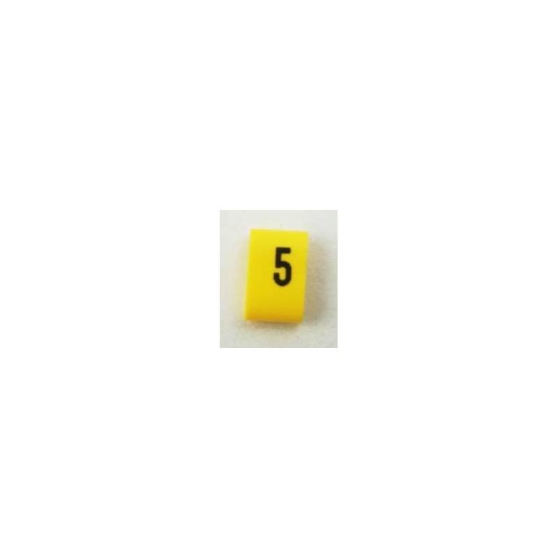 Oznacznik kablowy nasuwany cyfra 5, przek. 0,75mm2