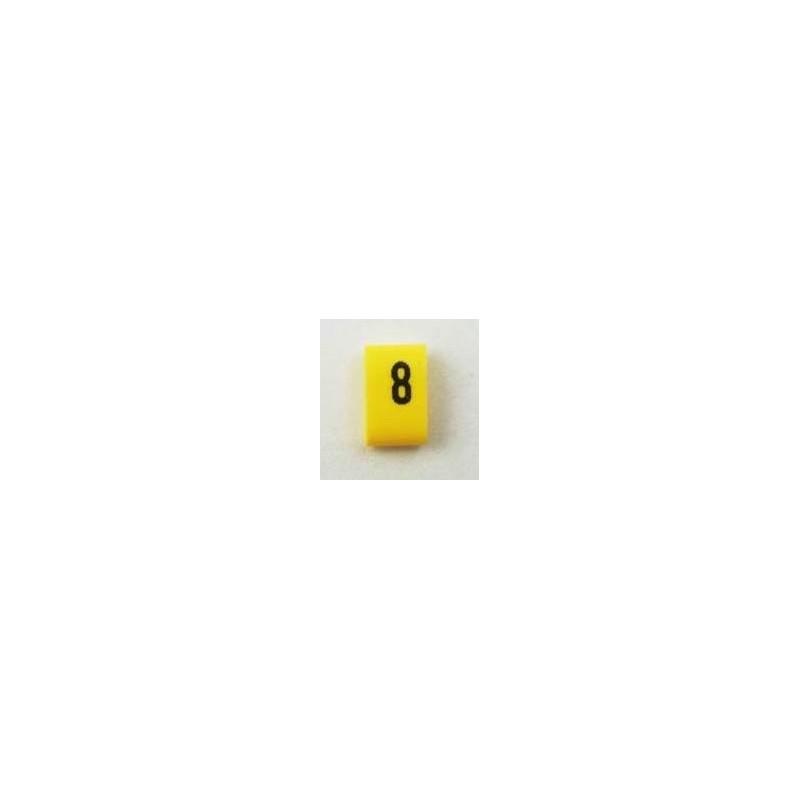 Oznacznik kablowy nasuwany cyfra 8, przek. 0,75mm2