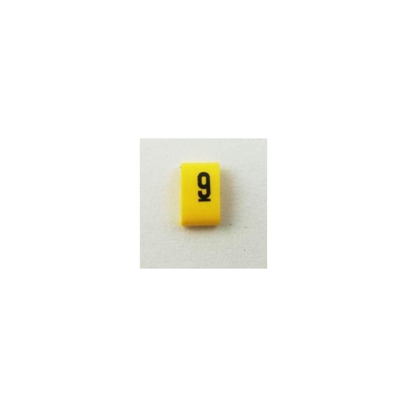 Oznacznik kablowy nasuwany cyfra 9, przek. 0,75mm2