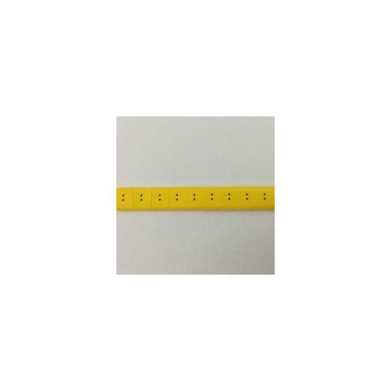 Oznacznik kablowy nasuwany znak : , przek. 0,75mm2