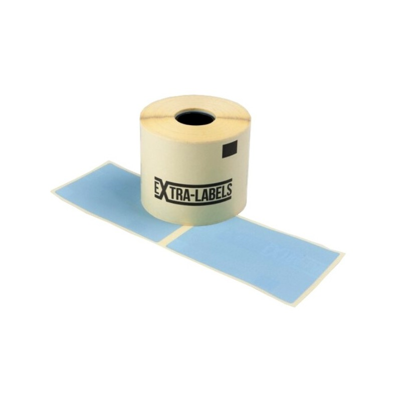 Etykiety termiczne ZE-62102LAN niebieska 62x102mm