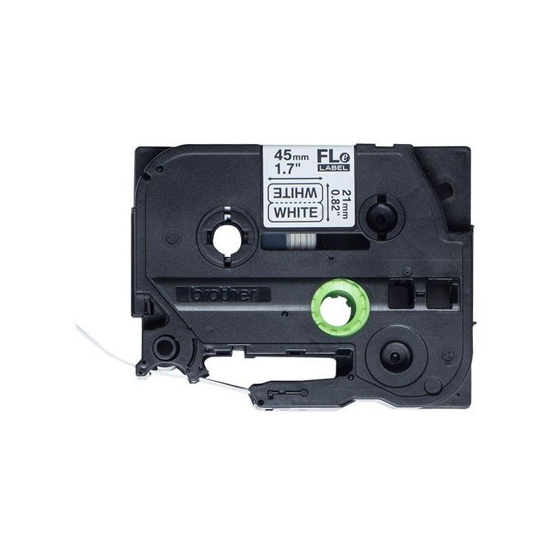 FLe-2511 Brother etykieta cięta, biała czarny nadruk 45x21mm