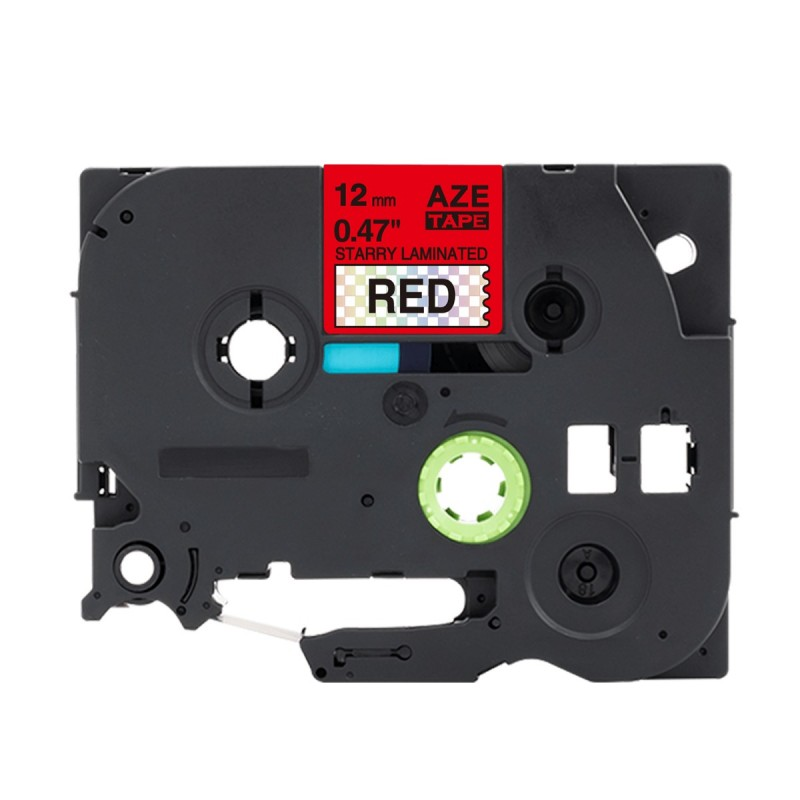 Tze-431 Brother czerwona, czarny nadruk 12mm OZDOBNA zamiennik