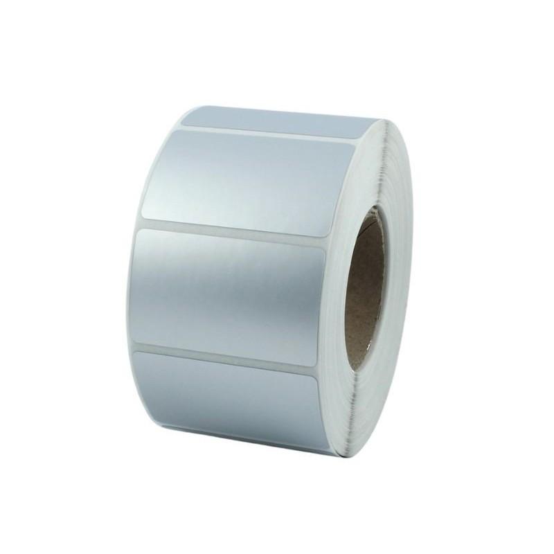 Etykiety foliowe 90x50 mm srebrne, 1000 szt. do termotransferowych drukarek etykiet TSC