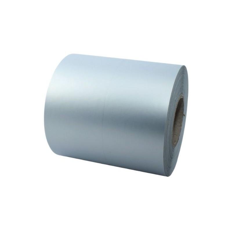 Taśma foliowa 40mmx50 mm srebrna do termotransferowych drukarek etykiet TSC