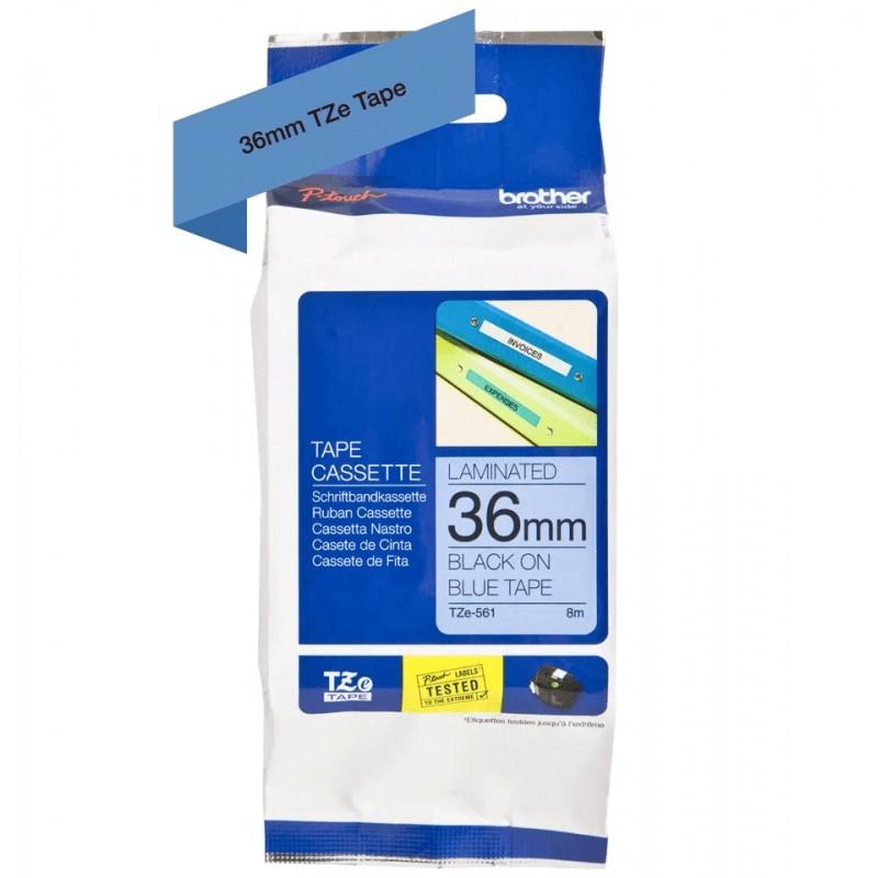 Taśma laminowana Brother TZe-561 niebieska 36mm szerokości do drukarek Brother PT//
