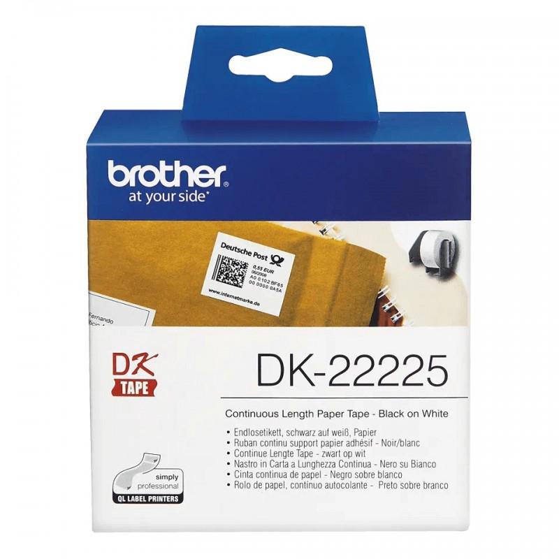 Etykiety Brother DK-22225 38mmx30.48m, białe, do drukarek etykiet Brother QL
