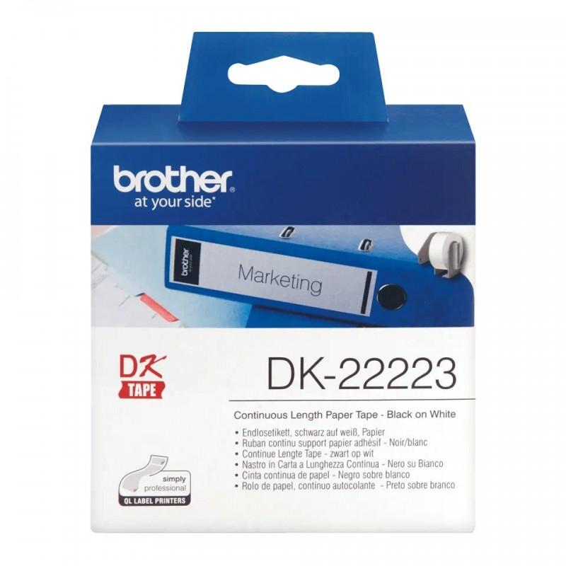 Etykiety Brother DK-22223 50mmx30.48m, białe, do drukarek etykiet Brother QL