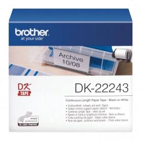 DK-22243 Brother taśma ciągła papierowa, biała, 102mm x 30.48m