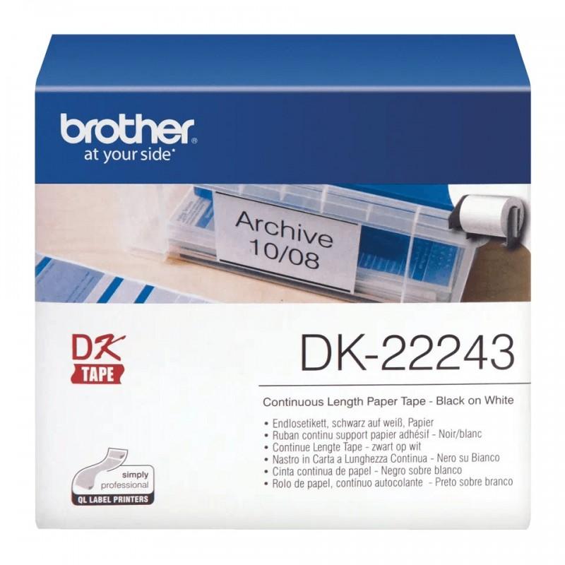 Etykiety Brother DK-22243 102mmx30.48m, białe, do drukarek etykiet Brother QL