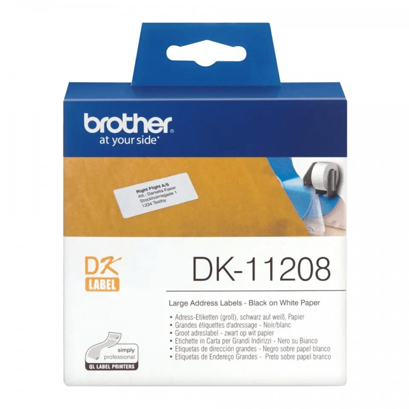 Etykiety Brother DK-11208 38x90mm 400 szt. do drukarek etykiet Brother QL
