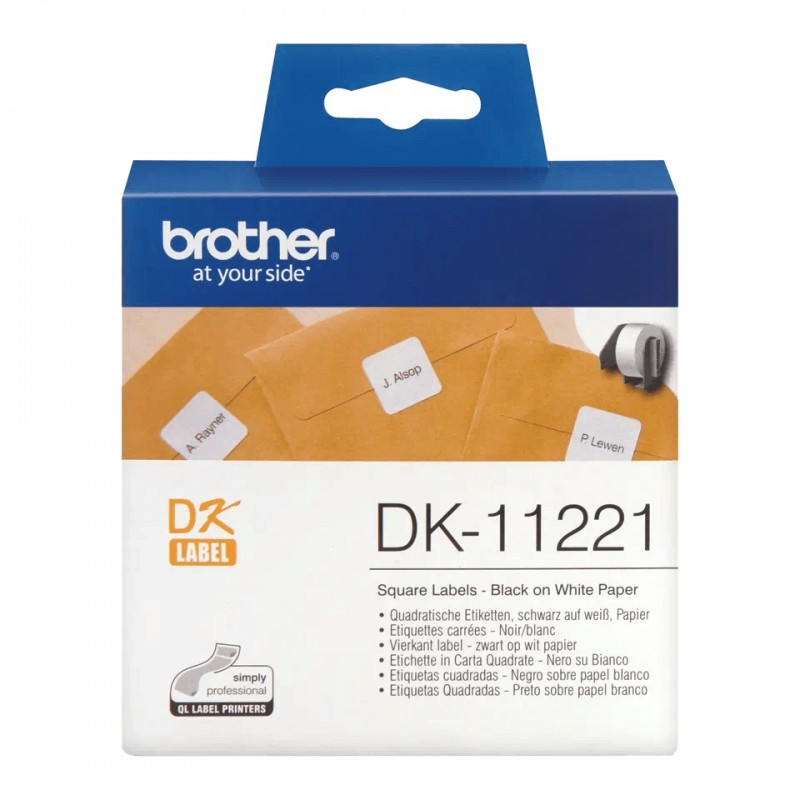 Etykiety Brother DK-11221 23x23mm 1000 szt. do drukarek etykiet Brother QL