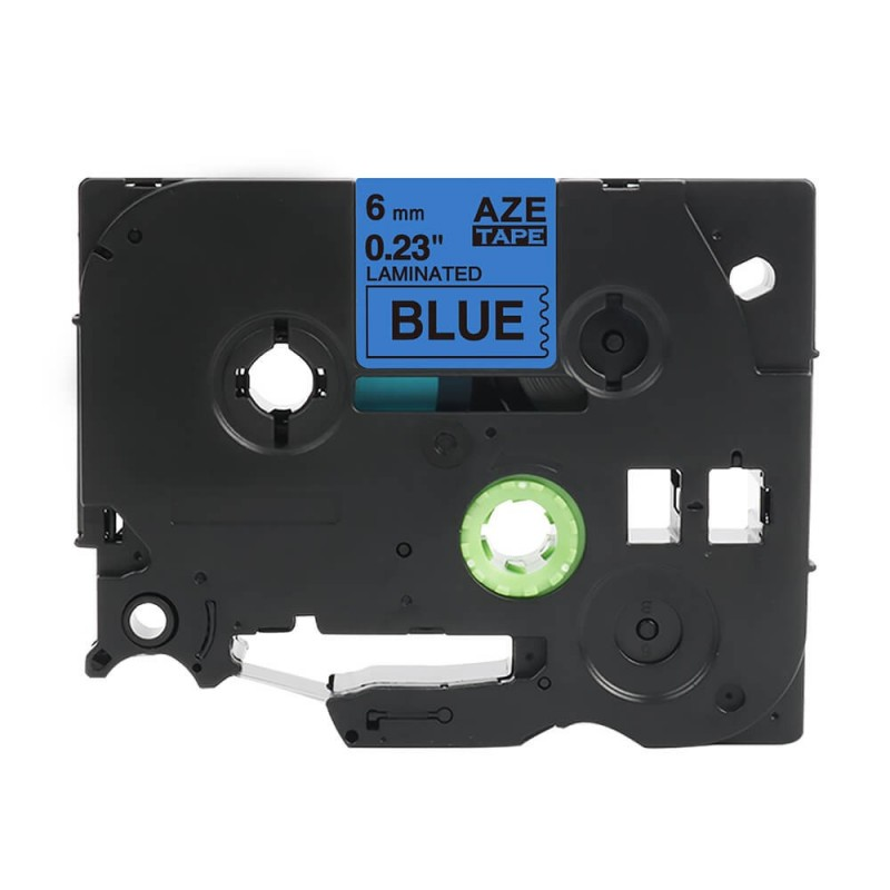 Taśma laminowana Brother TZe-511 niebieska 6mm szerokości do drukarek Brother PT zamiennik