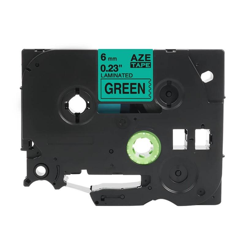 Taśma laminowana Brother TZe-711 zielona 6mm szerokości do drukarek Brother PT zamiennik