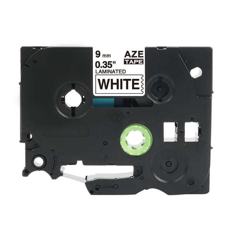 Taśma laminowana Brother TZe-221 biała 9mm szerokości do drukarek Brother PT zamiennik