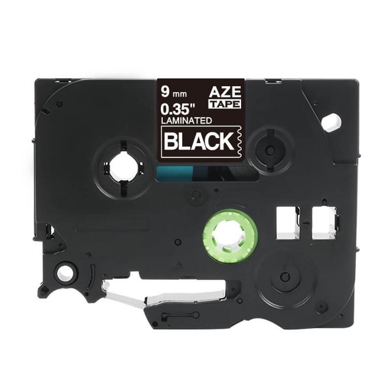 Taśma laminowana Brother TZe-325 czarna 9mm szerokości do drukarek Brother PT zamiennik