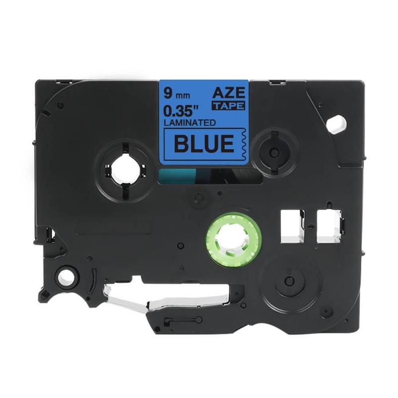 Taśma laminowana Brother TZe-521 niebieska 9mm szerokości do drukarek Brother PT zamiennik