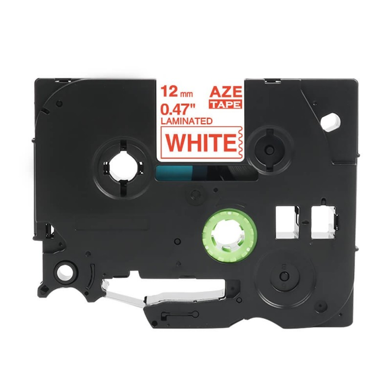 Taśma laminowana Brother TZe-232 biała 12mm szerokości do drukarek Brother PT zamiennik