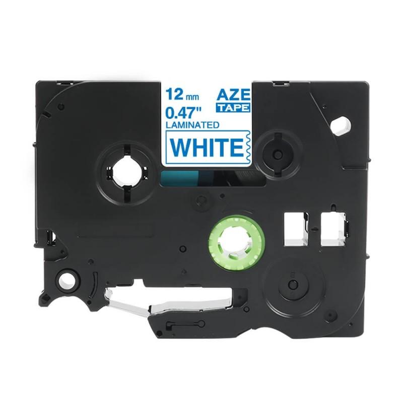 Tze-233 Brother biała, niebieski nadruk 12mm zamiennik