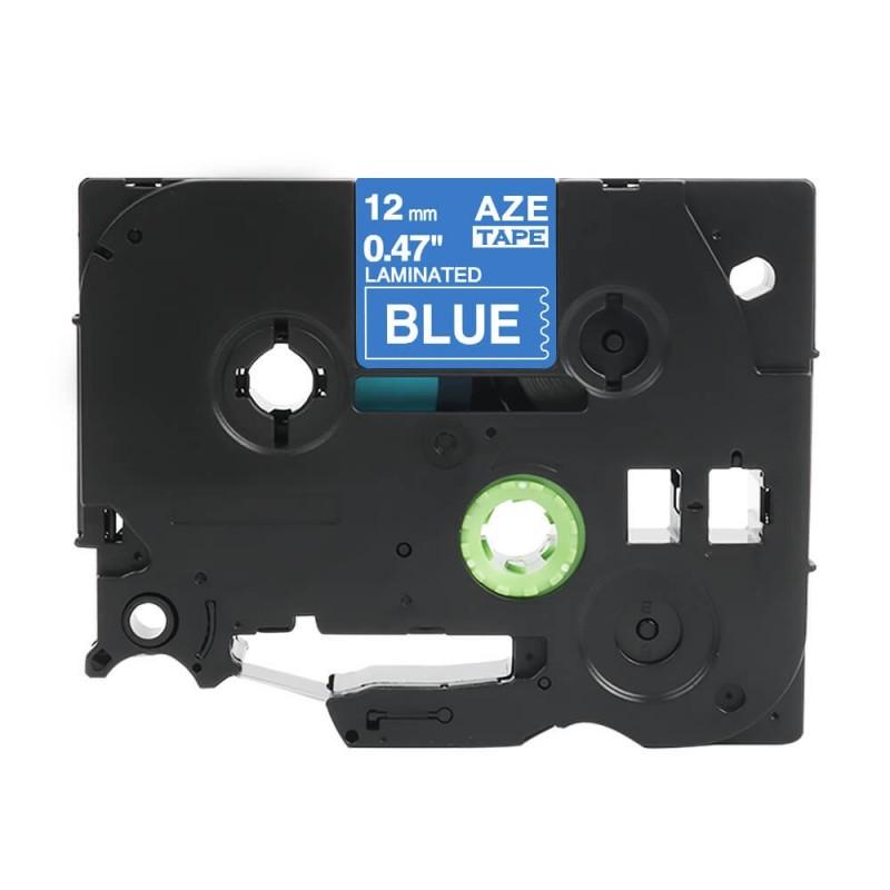 Taśma laminowana Brother TZe-535 niebieska 12mm szerokości do drukarek Brother PT zamiennik