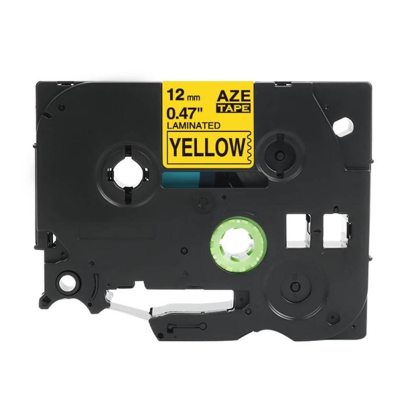 Taśma laminowana Brother TZe-631 żółta 12mm szerokości do drukarek Brother PT zamiennik