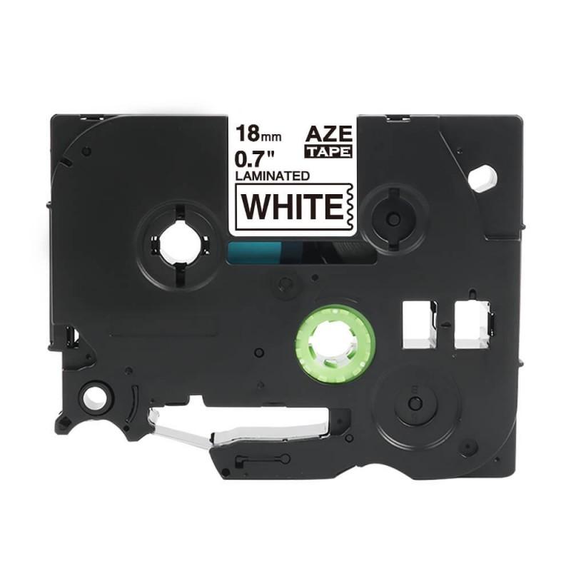 Taśma laminowana Brother TZe-241 biała 18mm szerokości do drukarek Brother PT zamiennik