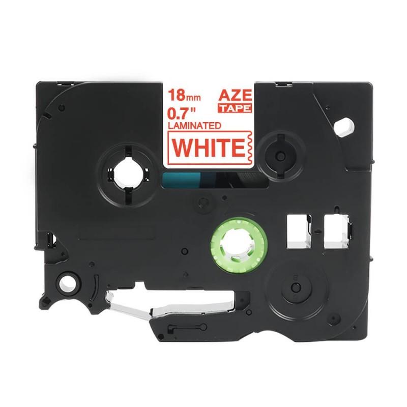Taśma laminowana Brother TZe-242 biała 18mm szerokości do drukarek Brother PT zamiennik