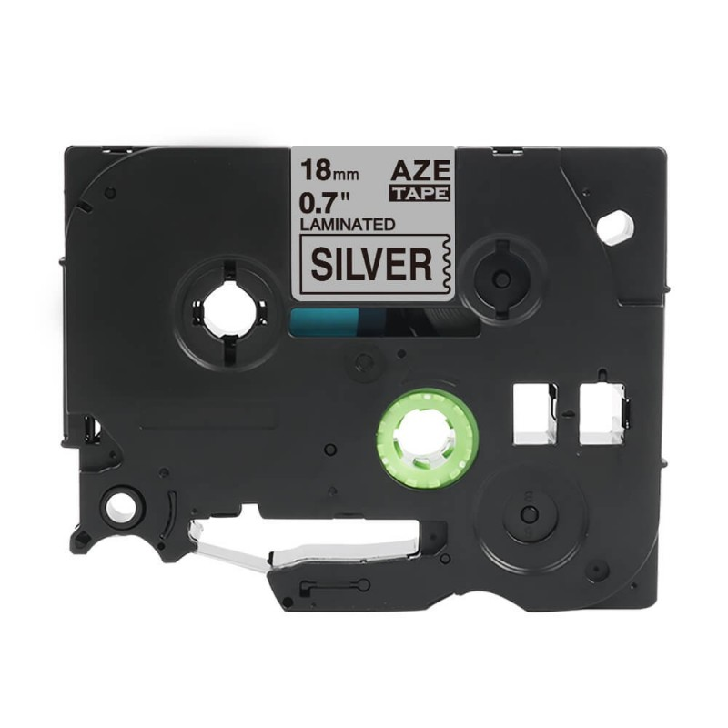 Taśma laminowana Brother TZe-941 srebrna 18mm szerokości do drukarek Brother PT zamiennik