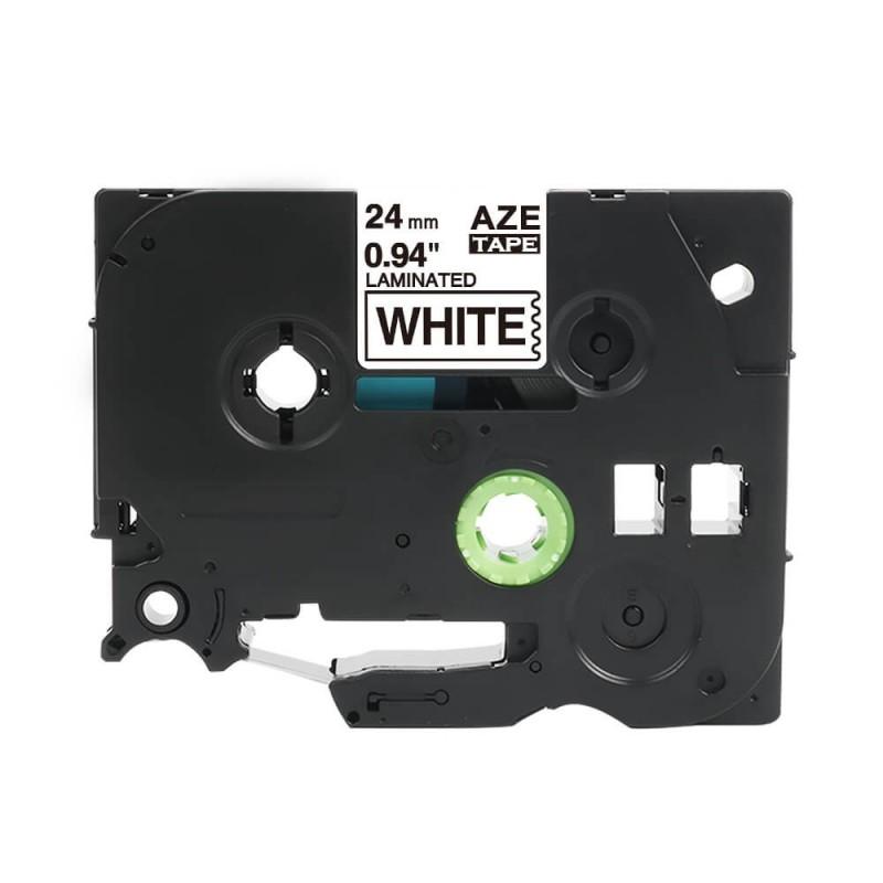 Taśma laminowana Brother TZe-251 biała 24mm szerokości do drukarek Brother PT zamiennik