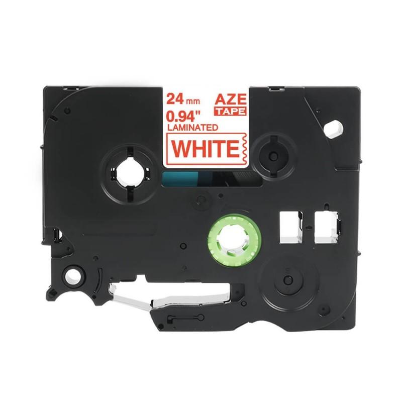 Taśma laminowana Brother TZe-252 biała 24mm szerokości do drukarek Brother PT zamiennik