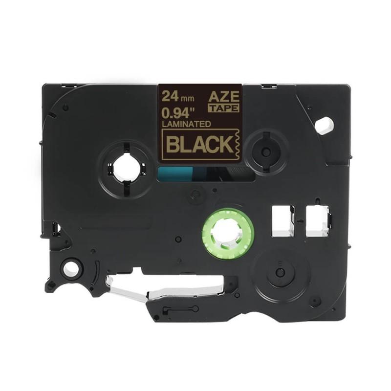 Taśma laminowana Brother TZe-354 czarna 24mm szerokości do drukarek Brother PT zamiennik