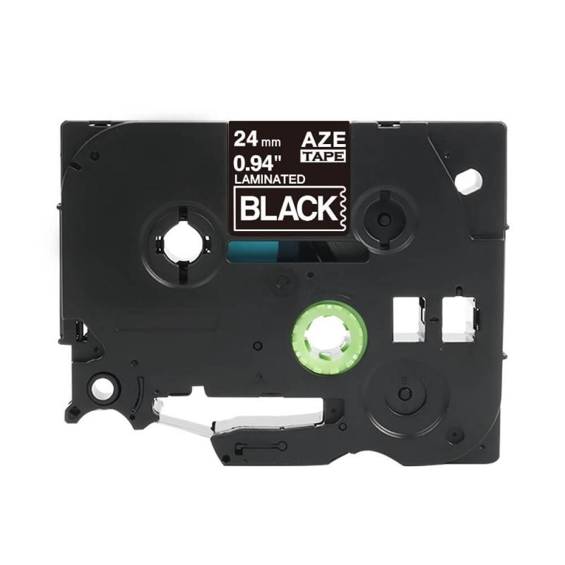 Taśma laminowana Brother TZe-355 czarna 24mm szerokości do drukarek Brother PT zamiennik