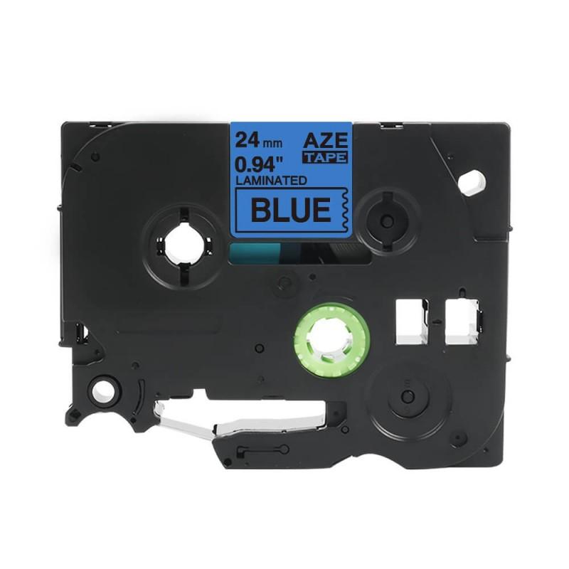 Tze-551 Brother niebieska, czarny nadruk 24mm zamiennik