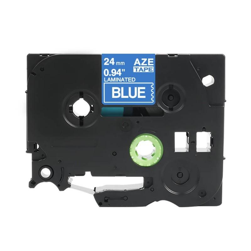 Taśma laminowana Brother TZe-555 niebieska 24mm szerokości do drukarek Brother PT zamiennik