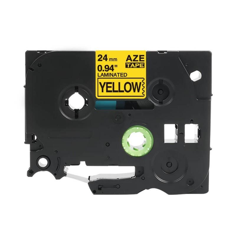 Taśma laminowana Brother TZe-651 żółta 24mm szerokości do drukarek Brother PT zamiennik