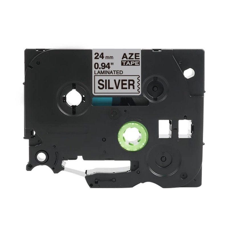Tze-951 Brother srebrna, czarny nadruk 24mm zamiennik