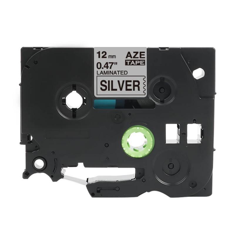 Taśma laminowana Brother TZe-931 srebrna 12mm szerokości do drukarek Brother PT zamiennik