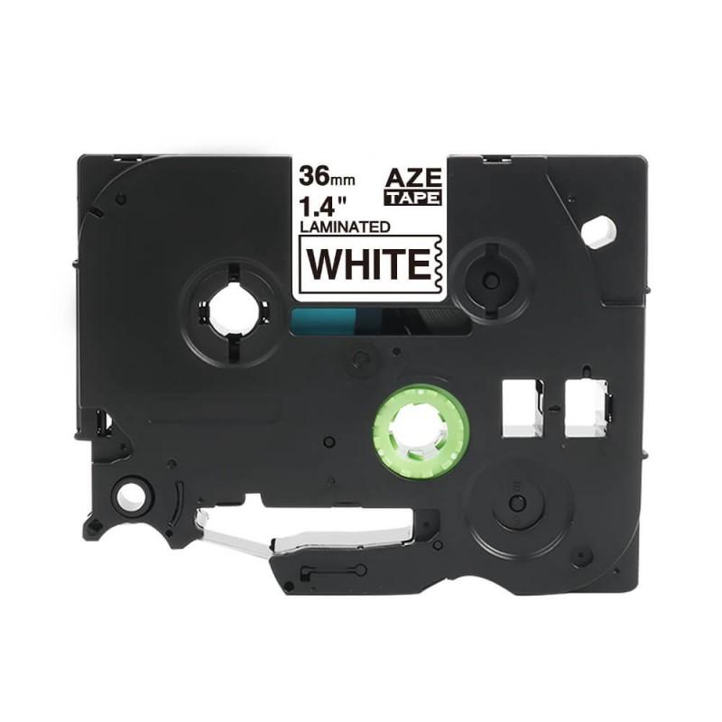 Taśma laminowana Brother TZe-261 biała 36mm szerokości do drukarek Brother PT zamiennik