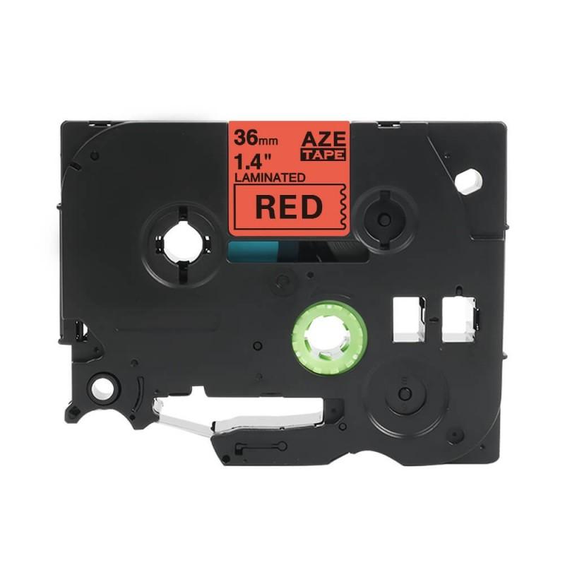 Taśma laminowana Brother TZe-461 czerwona 36mm szerokości do drukarek Brother PT zamiennik