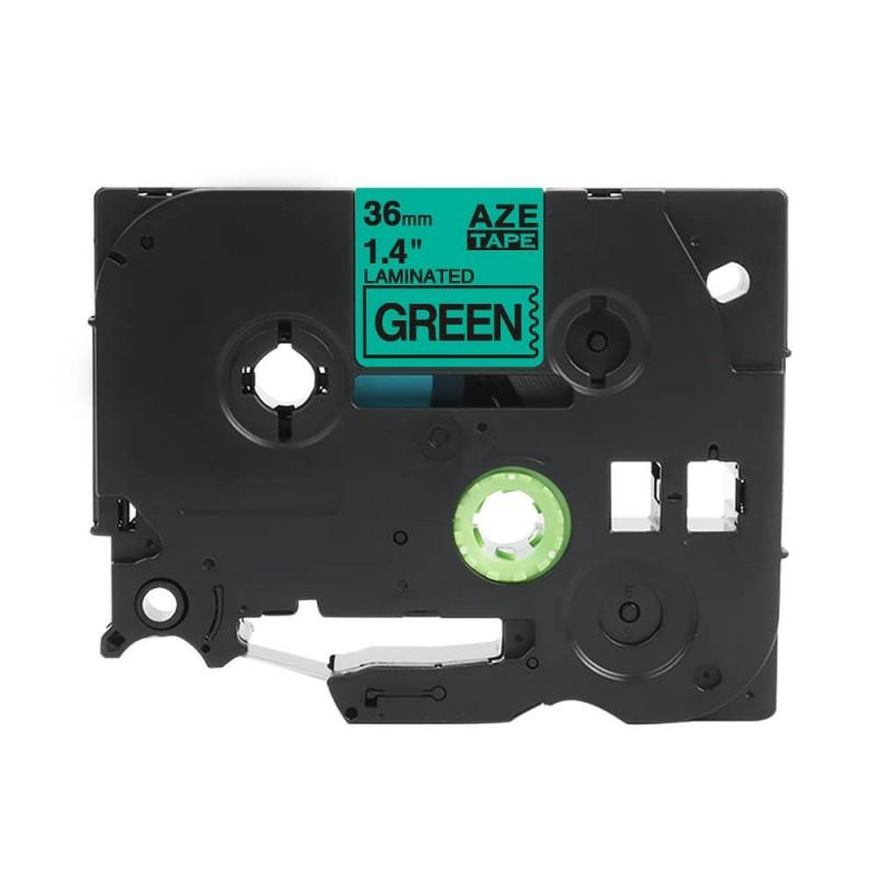 Taśma laminowana Brother TZe-765 zielona 36mm szerokości do drukarek Brother PT zamiennik