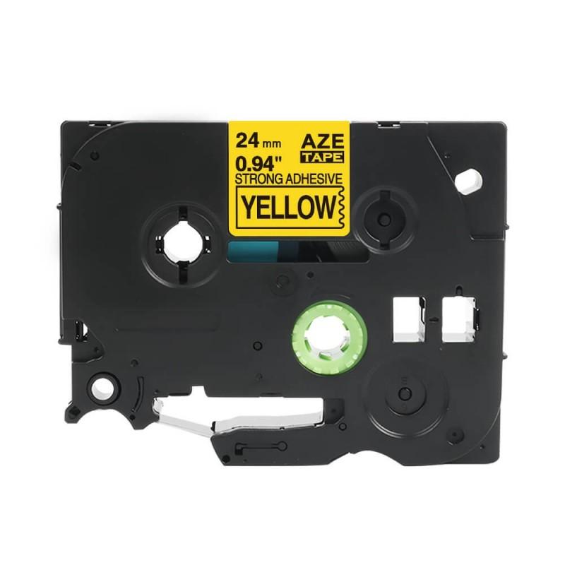 Taśma laminowana AZeS-651 żółta szer. 24mm