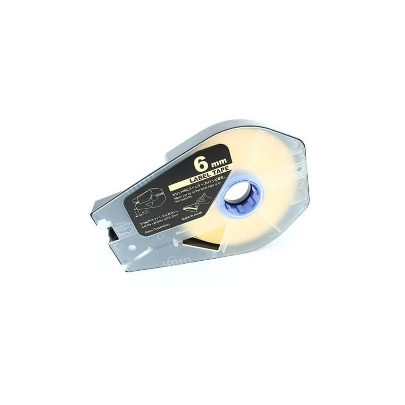 Taśma Dymo D1 40918 S0720730 9 mm żółte tło czarny druk zamiennik