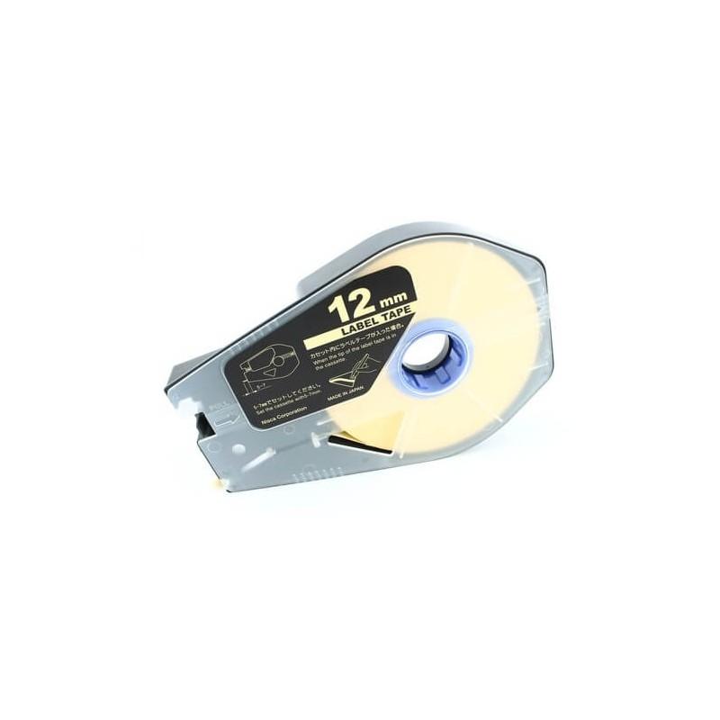 Taśma Dymo D1 45018 S0720580 12 mm żółte tło czarny druk zamiennik