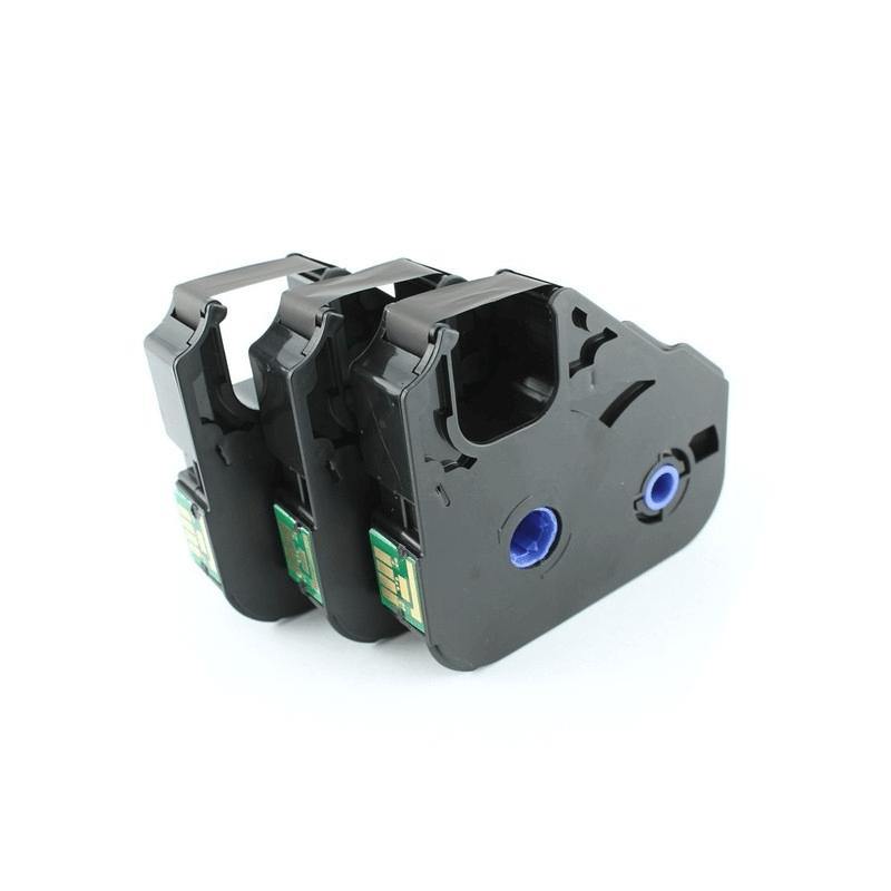 Taśma Dymo D1 45010 S0720500 12 mm przezroczyste tło czarny druk zamiennik